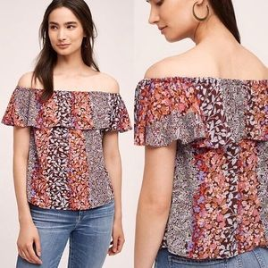 Anthropologie MAEVE Vallita Floral top. Size Small